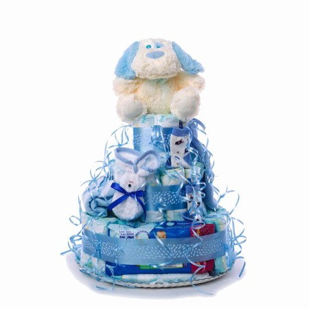 TARTA GRANDE CELESTE b4b1adc3 0916 4896 9514 96c06dd9312b 1024x1024 2 - Tarta de pañales DODOT para bebé recién nacido.