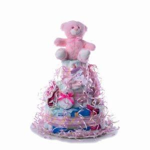 TARTA GRANDE ROSA 1024x1024 2 300x300 - Tarta de pañales DODOT para bebé recién nacido.