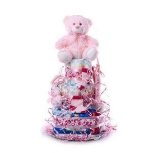 TARTA MEDIANA ROSA 1024x1024 2 300x300 - Tarta de pañales DODOT Mediana para bebé recién nacido
