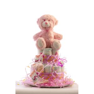 TARTA PEQUENA ROSA 1024x1024 1 300x300 - Tarta de pañales DODOT para bebé recién nacido.