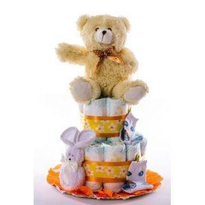 Tarta 2.0 naranja  oso claro 1024x1024 1 300x300 - Tarta de pañales DODOT para bebé recién nacido.