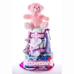 Tarta 3.0 lila 1024x1024 2 300x300 - Tarta de pañales DODOT Mediana para bebé recién nacido