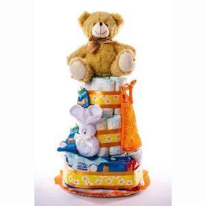 Tarta 3.0 naranja   oso oscuro 1024x1024 2 300x300 - Tarta de pañales DODOT Mediana para bebé recién nacido