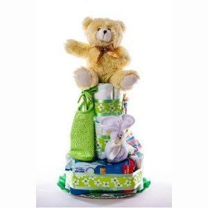 Tarta 3.0 verde   oso claro 1024x1024 2 300x300 - Tarta de pañales DODOT Mediana para bebé recién nacido